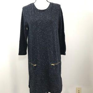 Gap Oversized Shirt Dress zippered Pockets Medium